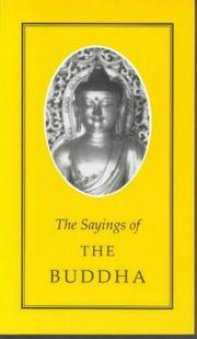 Cover of: Sayings of the Buddha