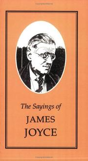 Cover of: The sayings of James Joyce