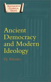 Cover of: Ancient Democracy and Modern Ideology (Duckworth Classical Essays)