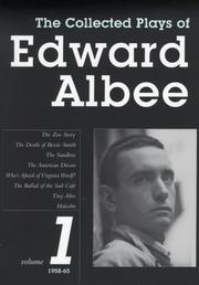 Cover of: The Collected Plays of Edward Albee