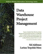 Cover of: Data warehouse project management