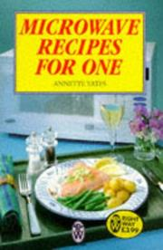 Cover of: Microwave Recipes for One | Annette Yates