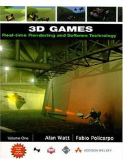 Cover of: 3D games | Alan H. Watt