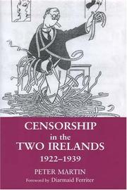 Cover of: Censorship in the Two Irelands 1922-1939