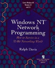 Cover of: Windows NT network programming | Davis, Ralph