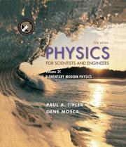 Cover of: Physics for Scientists and Engineers, Volume 2C | Paul A. Tipler