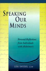 Cover of: Speaking Our Minds | Lisa Snyder, LCSW