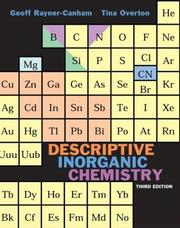 Cover of: Descriptive inorganic chemistry. | Geoffrey Rayner-Canham
