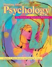 Cover of: Thinking about psychology | Charles T. Blair-Broeker