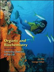 Cover of: Organic and biochemistry