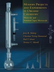Cover of: Modern Projects and Experiments in Organic Chemistry | Terence C. Morrill