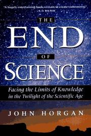 Cover of: The end of science