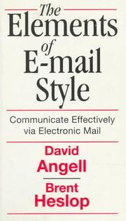 Cover of: The elements of e-mail style