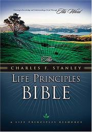 Cover of: The Charles F. Stanley Life Principles Bible (Burgundy)