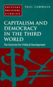 Cover of: Capitalism and Democracy in the Third World | Paul A. Cammack