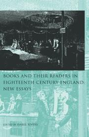 Cover of: Books and Their Readers in Eighteenth Century England | Isabel Rivers