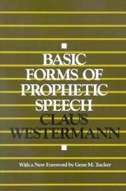 Cover of: Basic Forms Prophetic Speech PB
