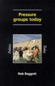 Cover of: Pressure groups today