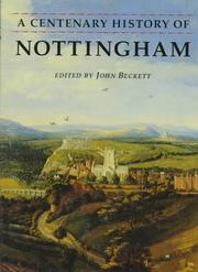 Cover of: A Centenary history of Nottingham |