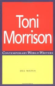 Cover of: Toni Morrison (Contemporary World Writers)