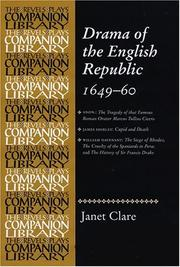 Cover of: Drama of the English Republic, 1649-1660 | Janet Clare