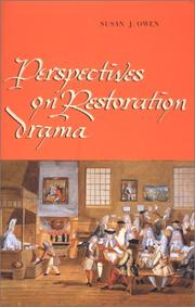 Cover of: Perspectives on Restoration drama