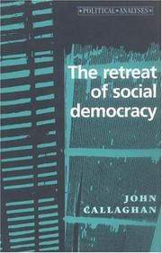 Cover of: The Retreat of Social Democracy (Political Analysis)