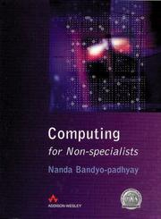 Cover of: Computing for non-specialists