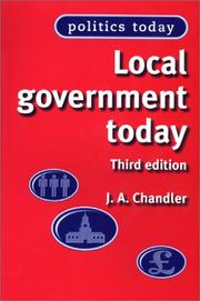 Cover of: Local government today