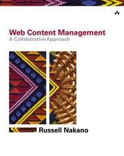 Cover of: Web content management