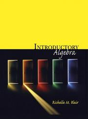 Cover of: Introductory Algebra (Blair Developmental Mathematics Series)