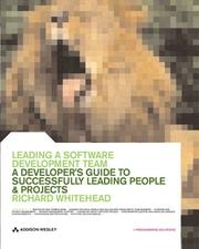Cover of: Leading a Software Development Team