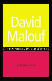 David Malouf (Contemporary World Writers)