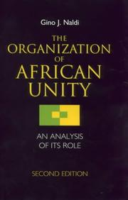 Cover of: The Organization of African Unity