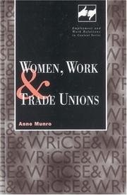 Cover of: Women, work, and trade unions