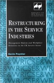Cover of: Restructuring in the Service Industries