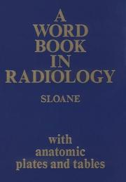Cover of: A word book in radiology
