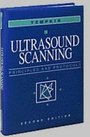 Cover of: Ultrasound scanning