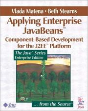 Cover of: Applying Enterprise JavaBeans | Vlada Matena