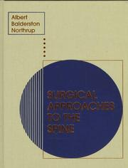 Cover of: Surgical approaches to the spine