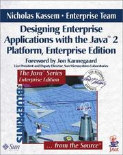 Cover of: Designing Enterprise Applications with the Java(TM) 2 Platform (Enterprise Edition) | Nicholas Kassem