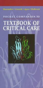 Cover of: Pocket companion to Textbook of critical care |
