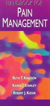 Cover of: Handbook for pain management | Ruth T. Kingdon
