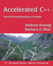 Cover of: Accelerated C++