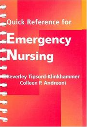 Cover of: Quick reference for emergency nursing