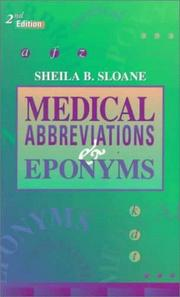 Cover of: Medical abbreviations & eponyms