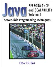 Cover of: Server-Side Programming Techniques (Java(TM) Performance and Scalability, Volume 1)