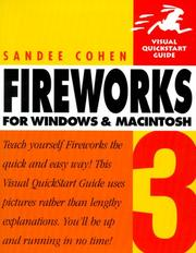 Cover of: Fireworks 3 for Windows & Macintosh | Sandee Cohen