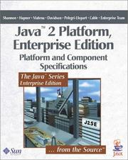 Cover of: Java 2 Platform, Enterprise Edition | Bill Shannon, Mark Hapner, Vlada Matena, James Davidson, Larry Cable, The Enterprise Team