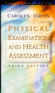 Cover of: Pocket Companion for Physical Examination and Health Assessment | Carolyn Jarvis